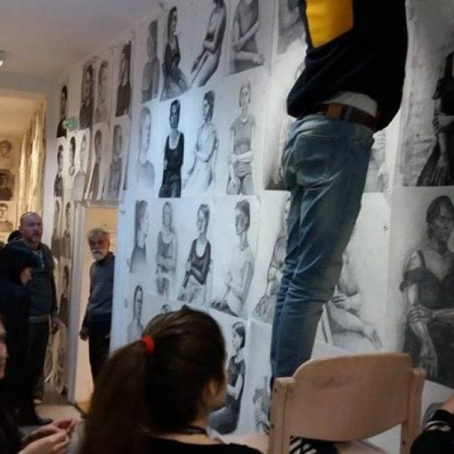 FOTO/VIDEO: Gong final la Olimpiada Națională de Arte Vizuale din Bistrița