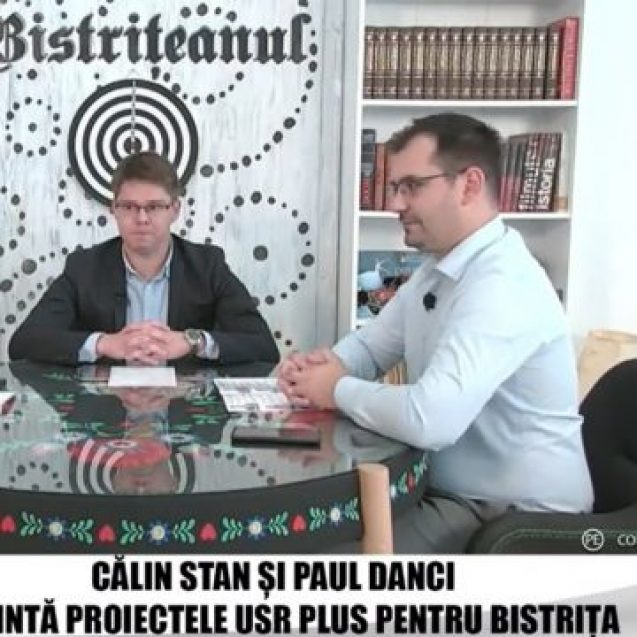 VIDEO:  Candidații USR-Plus Călin Stan și Paul Danci, despre priorități și urgențe în Bistrița