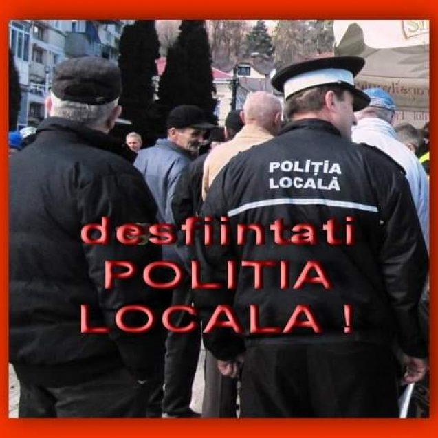 """O pagina de Facebook se ambiționează să """"desființeze"""" Poliția Locală. Până una alta, instituția nu există în mediul virtual…"""