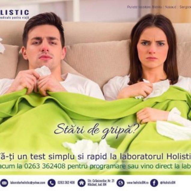 La Holistic îți poţi face rapid testul de gripă!