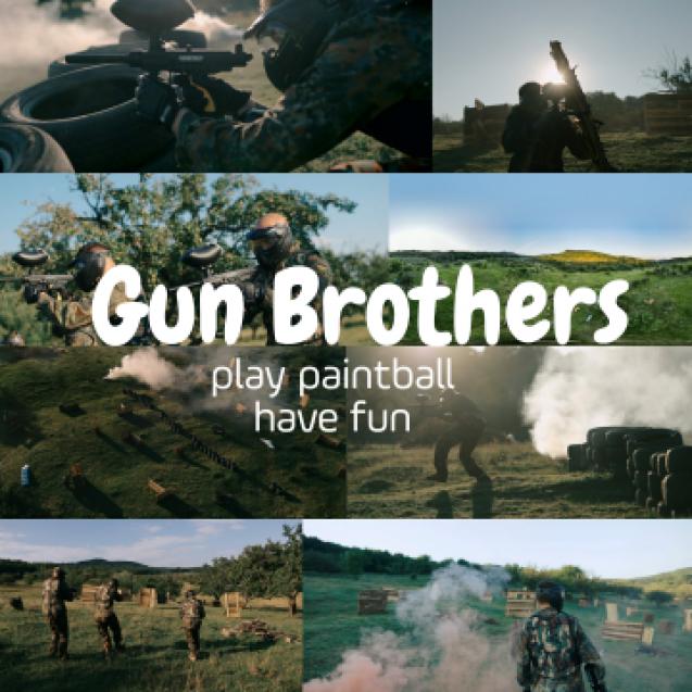FOTO/VIDEO: S-a deschis GUN BROTHERS Paintball! Pentru băieții care iubesc adrenalina și distracția