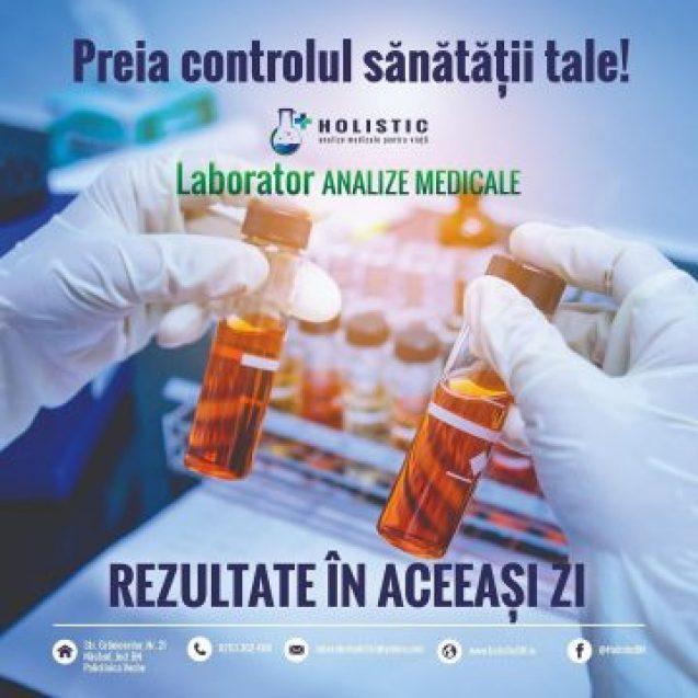 Vrei să știi cum stai cu imunitatea?! Laboratoarele HOLISTIC au pregătit un set special de analize, la preț promoțional, iar interpretarea rezultatelor se face GRATUIT