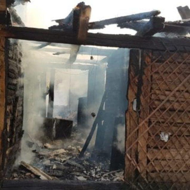 FOTO/VIDEO – Aluniș: A ars de viu în propria casă!