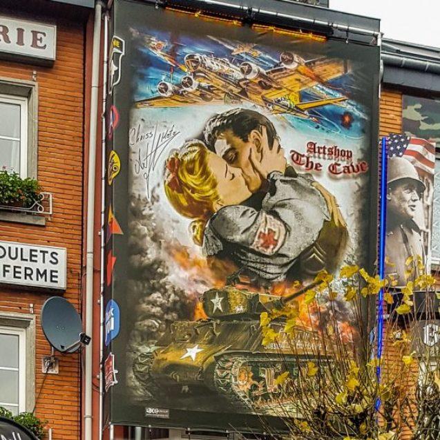 """Cum a ajuns un artist bistrițean să """"dea o față nouă"""" unei clădiri dintr-un oraș istoric belgian"""