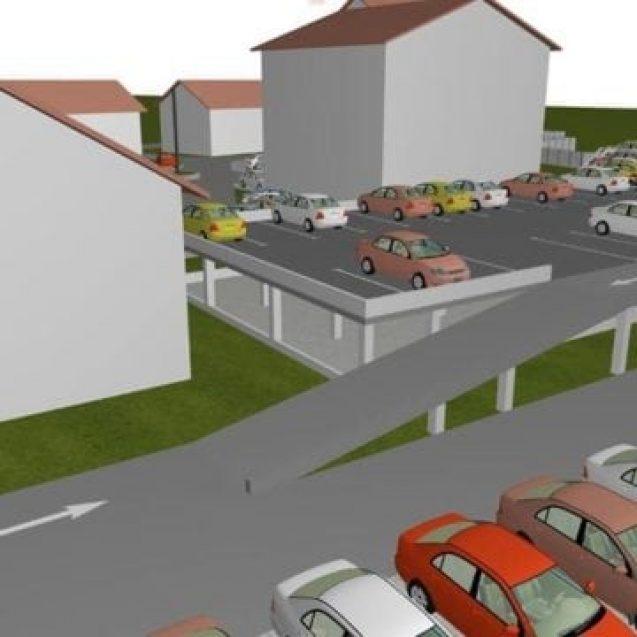Cum a luat fața Bistriței o primărie de comună. Aceasta construiește o parcare supraetajată cu 140 de locuri de parcare