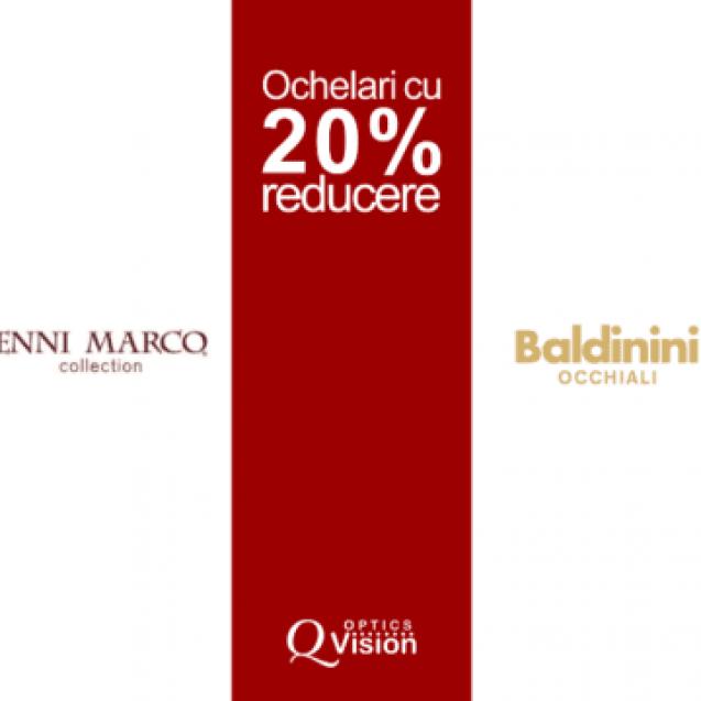 Q Vision din Cluj-Napoca vine cu reduceri de 20% la ochelari la branduri italiene de top!
