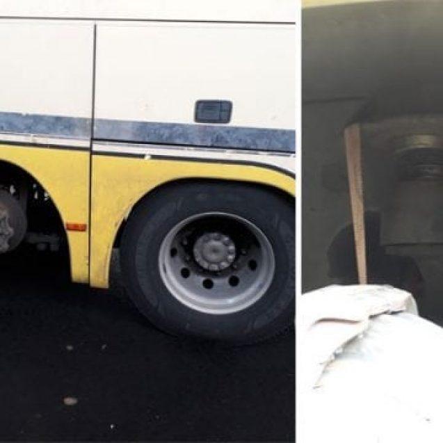 Bombele pe roți care străbat Europa! Un autocar din județ a fost tras pe dreapta în Austria, pentru că circula fără o roată