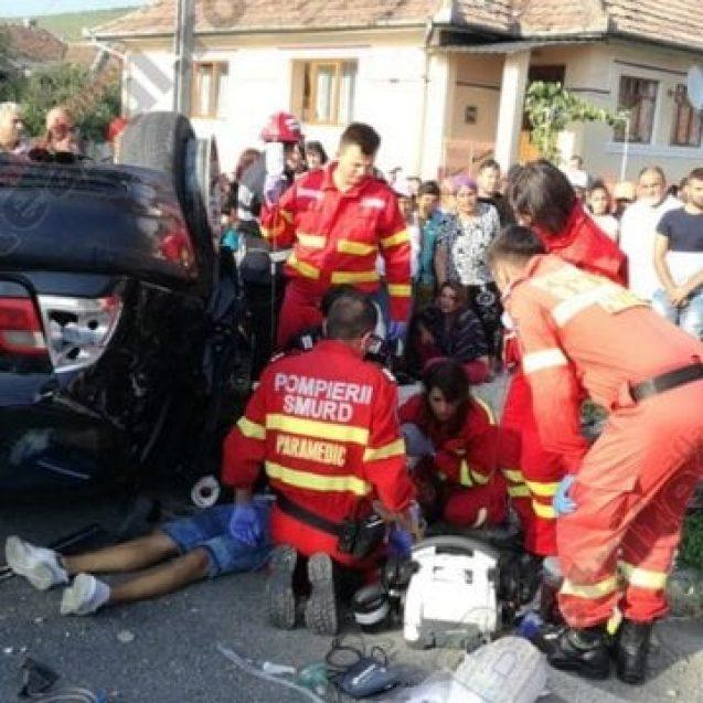 FOTO/VIDEO : Accident grav în Dipșa! Un tânăr de 17 ani a murit